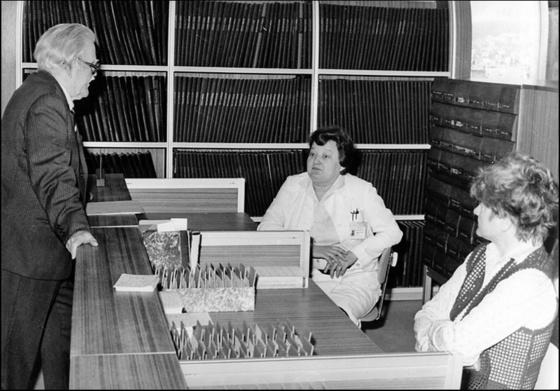 Országos Széchényi Könyvtár: A háttérben a könyvtári naplók