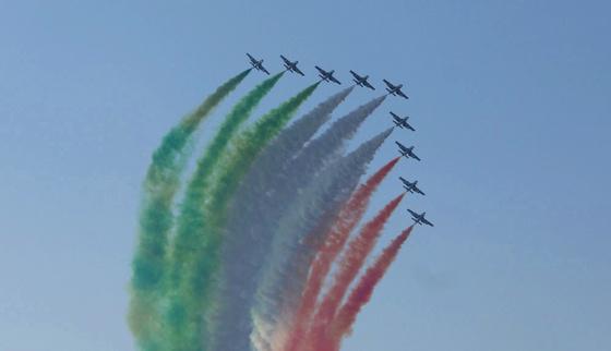 tourista: A Frecce Tricolore 50 éves 2010 - ben