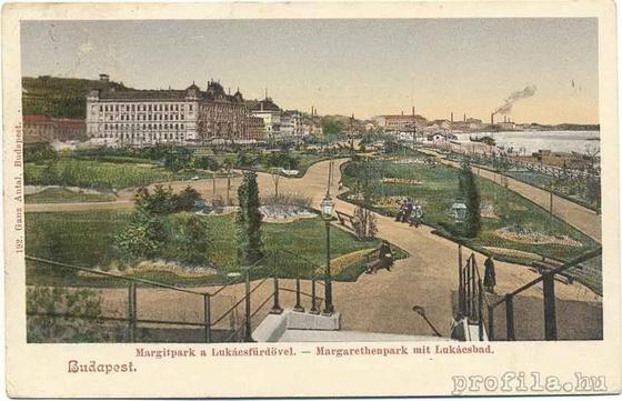 Margitpark a Lukácsfürdővel