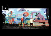 Tervek a Király utcai játszótér kifestésére - a legkékebb nyert