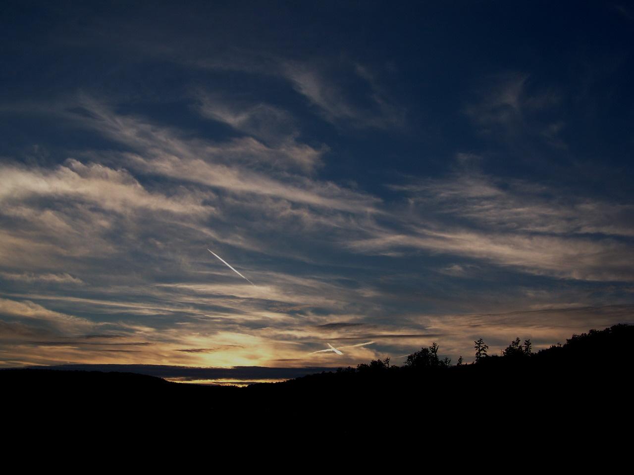 égi fények, keresztül - kasul